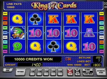 Автомат King of Cards в казино Вулкан Платинум